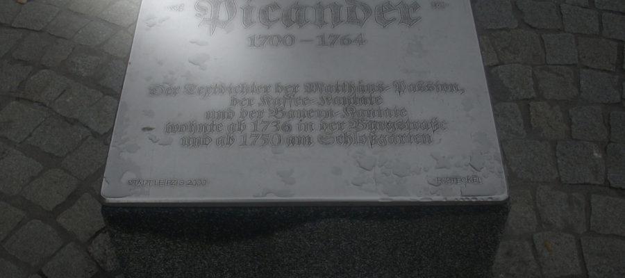 Leipzig Gedenktafel Picander