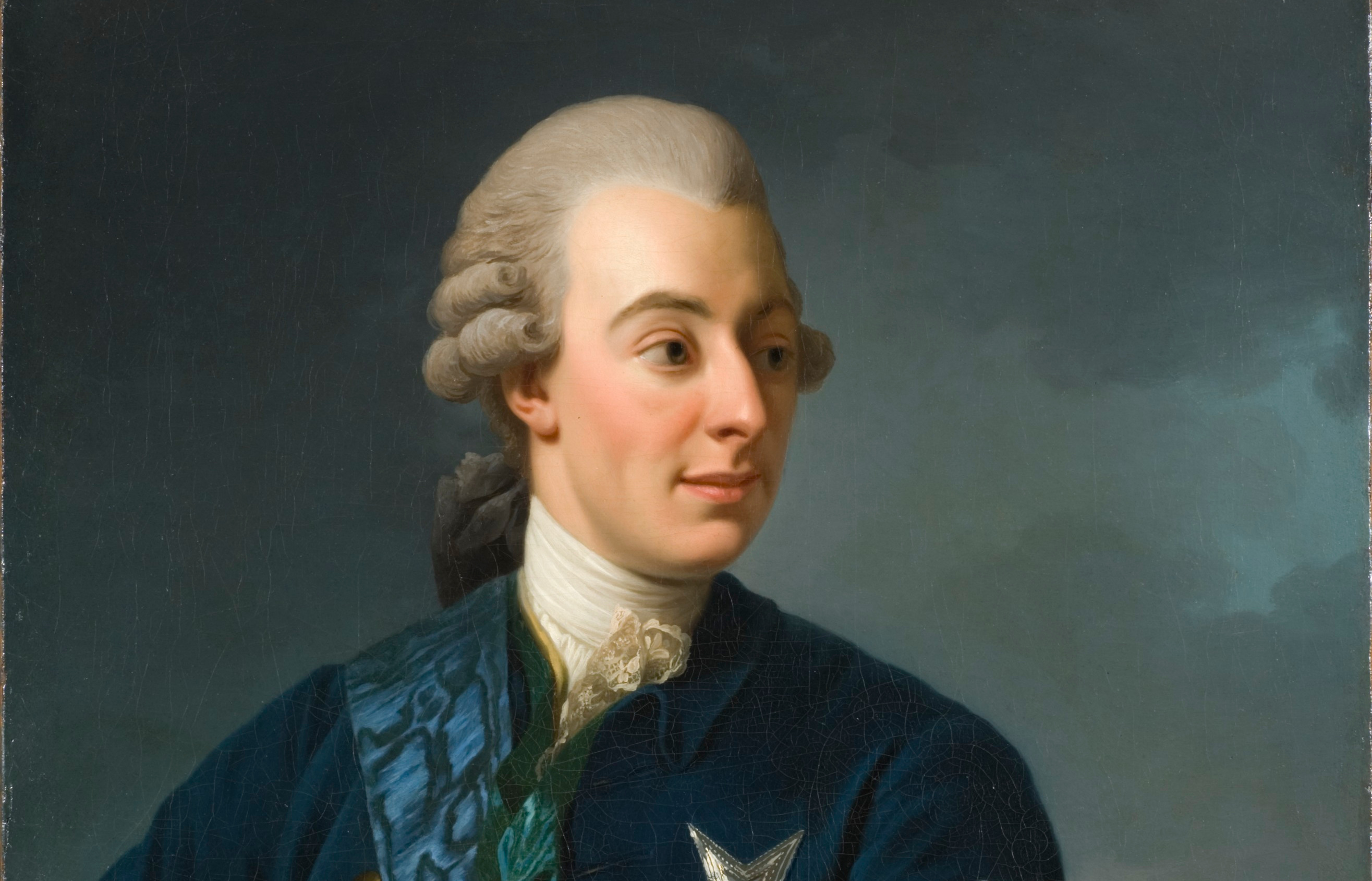 Alexander Roslin. Hans Atelji: Gustaf III Med Frihetsbindeln. Nm 4398 (Ausschnitt)